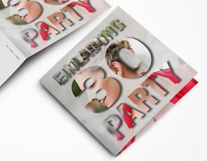 Einladungskarten Geburtstag Einladung -  30. Geburtstag eigenes Bild