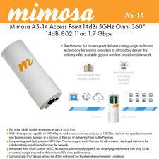 Mimosa A5-14 5GHz 14dBi 802.11ac 4x4 MU-MIMO 360 quad-panel access point GPS