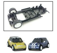 NEW Scalextric W9082 BMW Mini Cooper Underpan Chassis Front Wheels Tyres & Axle