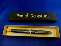 Pen of Gemstone Ball Point Green Pen with Box