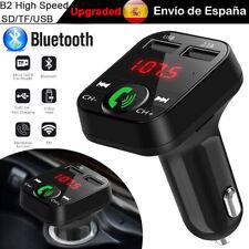 Transmisor FM Bluetooth MP3 Reproductor Coche Cargador 2 USB SD TF Manos Libres