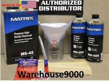 1 GAL MS-42 MATRIX HIGH SOLIDS URETHANE CLEARCOAT WITH 2 Quarts MH-005 HARDENER