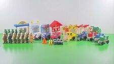 KidKraft WOODEN TRAIN TOWN PIECES | Trees, People, Buildings, Signs | 46 pieces