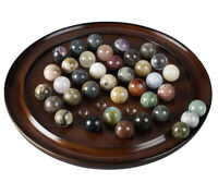 Solitaire Game Solid Gemstone Marbles 20mm Authentic Models New