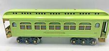LIONEL STANDARD GAUGE #490 APPLE GREEN LIGHTED OBSERVATION TRAIN CAR ~RESTORED~