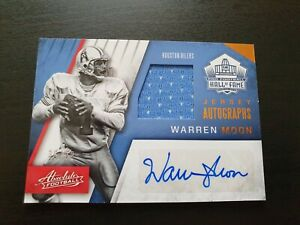 Warren Moon 2016 Absolute American Football Auto Patch Card /99 Houston Oilers