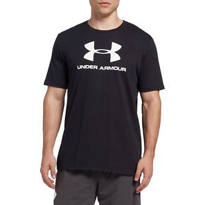 Under Armour Men's Sportstyle Big Logo Graphic T-Shirt, Black, Medium