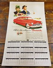 1949 Ride Like A King Ford Monarch Classic Car Advertising Paper Wall Calendar
