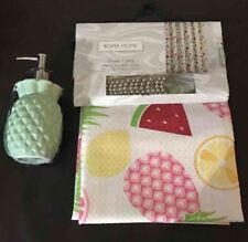 Roma Home Fruits Shower curtain with Pineapple pump
