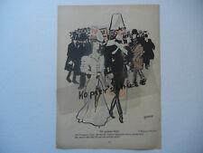 ORIGINALE Out in bianco Rivista Gioventù 1907 Weisgerber - Max Klinger B448