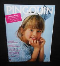 Vtg New Pingouin No.80 SPRING/SUMMER Knitting Magazine 2-12 Kids Dad 36 Sweaters