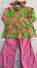 9e890518d044d Girls FLAP HAPPY 2T Christmas Pink Poinsettia Pink Pants Outfit NEW NWT  Headband