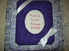 SWEET SIXTEEN 16  Custom Personalized Fabric Photo Album / Scrapbook - Handmade