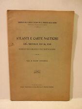 Antiquariato Navigazione, Longhena: Atlanti Carte Nautiche sec. XIV - XVII 1907