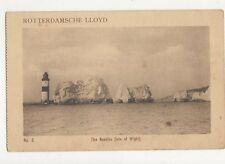 Rotterdamsche Lloyd The Needles Isle of Wight Vintage Shipping Postcard 128a