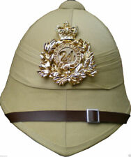 Pith Helmet 24th Regiment Badge Plate British Boer Zulu War Khaki Doctor Who