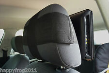 SAFE&EASY QUICK RELEASE HOLDALL Dvd Ipad Tablet CAR HEADREST MOUNT STRAP PAIR