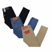 Levis 512 Hombres Jeans Slim informal Denim Pantalones Pantalones cónicos NUEVO NUEVO CON ETIQUETAS Cremallera Volar