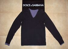 Dolce&Gabbana Black Label Runway DOUBLE V-neck T-shirt Sweatshirt 44 IT (S) 375€