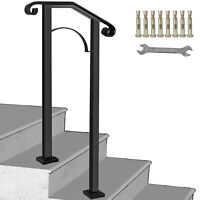 Fits 1 Step Handrail Arch #1 Matte Black Garden Brick Steps Stylish Design
