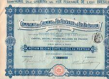 Compagnie des Chemins de Fer Federaux de L'Est Bresilien - 1911