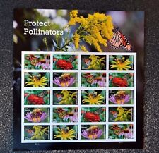2017USA #5228-5232 Forever - Protect Pollinators - Mint Sheet of 20 butterfly