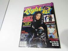 RARE VTG Right On Magazine May 1990 Janet Jackson Dares to be Different No Label