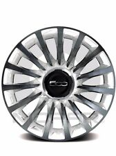 "14-16 Fiat 500L New 17"" White Diamond Aluminum Wheel Set of 4 Mopar Factory Oem"
