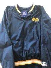 Vintage Michigan Wolverines Starter Jacket L Football Pullover College Euc Vtg