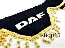 Daf Gardinen Frontscheibe Verzierung Scheibenborde Vorhänge Schwarz Gold