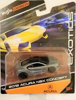 1:64 MAISTO *EXOTICS* Gun Metal 2012 ACURA NSX CONCEPT *DIECAST* NIP!