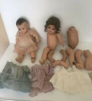 DIONNE ALEXANDER DOLLS LOT WITH CLOTHES AND BODY PARTS