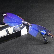 Frameless Diamond Trimming rimless Reading glasses Anti-blue ray for Reader