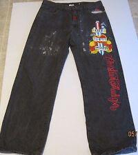Christian Audigier Mens Embroidered Jeans 38 x 34 skull Vida Y Muerte B20
