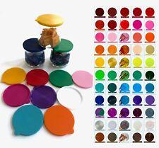 OUI Yogurt jar lids - Pick Your Colors - 60 Colors  ❤️💚💜