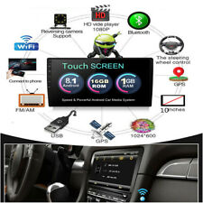 1 Din 1080P Touch Screen Android 8.1 Quad-Core Stereo Radio GPS Wifi Mirror Link