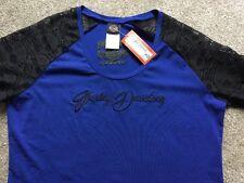 Harley Davidson Sheer Skull 3/4 sleeve blue Nwt Women's XL
