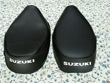 Suzuki FA50 FS50 MOPED 1980 TO 1991 BLACK SEAT COVER WITH WHITE LOGO (S6--n6)