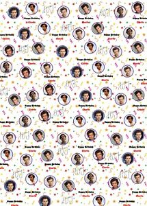 Harry Styles Personalised Birthday Wrapping Paper.