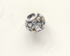 Genuine Pandora Silver and 14ct Gold Family Forever Charm 791040