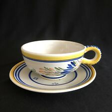 HB Quimper France Faience Tea Coffee Cup Mug And Saucer Man