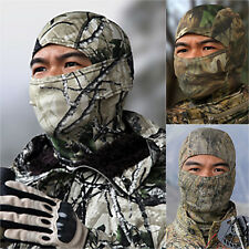 Camouflage Hunting Scarf Cap Balaclava Winter Hat Full Face Mask Hood Windproof