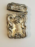 Vintage Victorian Style Sterling Silver Lighter Case