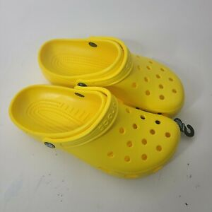 Crocs Mens Shoes Yellow Size 7 New