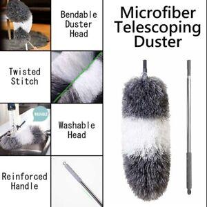 Sweep Joy L7P Microfiber Telescoping Duster Stainless Steel Pole Bendable Head