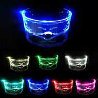 Neon El Wire Light Up Shutter Flashing Glasses Eyewear for Nightclub Party LED