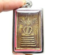 SOMDEJ LP PUEK THAI REAL ANTIQUE BUDDHA AMULET SUCCESS WEALTH RICH LUCKY PENDANT