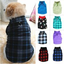 Pet Dog Fleece Sweater Warm Harness Vest Shirt Puppy Apparel Jumper Coat Jacket