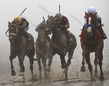 JUSTIFY 2018 PREAKNESS STAKES WINNER IN THE MUD 8X10 PHOTO