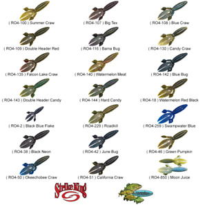 Strike King Soft Plastic KVD Rodent Creature Bait 4 Inch Any 21 Colors RO4 Lure